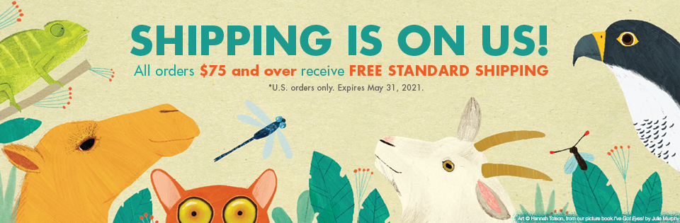 Shipping is on us! All orders $75 and over receive free standard shipping. U.S. orders only. Expires May 31, 2021.